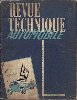 Revue Technique Automobile 1953