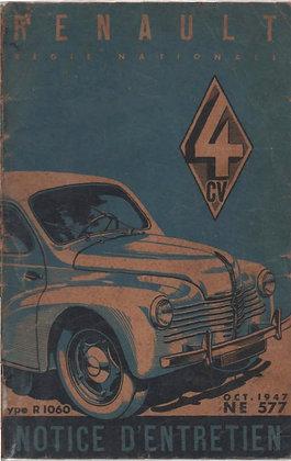 Notice Renault 4cv 1947