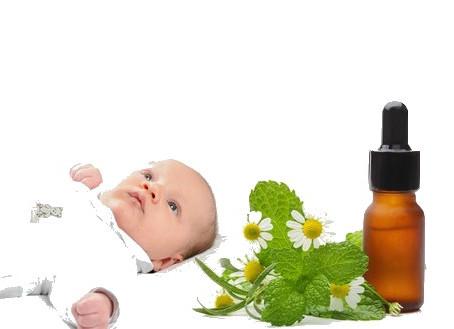 Les huiles essentielles chez les nourrissons