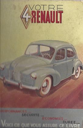 Notice Renault 4cv 1951