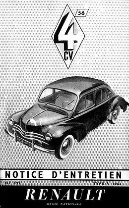 Notice Renault 4cv 1956