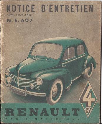 Notice Renault 4cv 1952