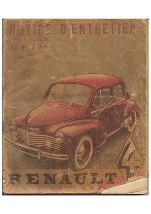 Notice Renault 4cv 1950