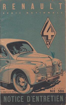Notice Renault 4cv 1949