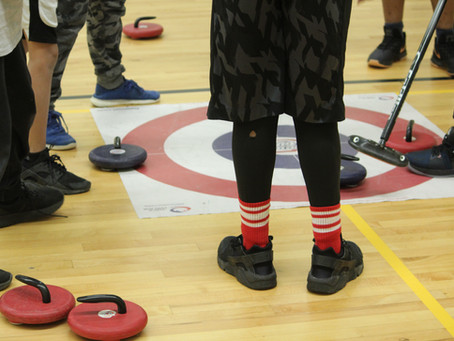 Curling hits the school gym as part of Sports Showcase