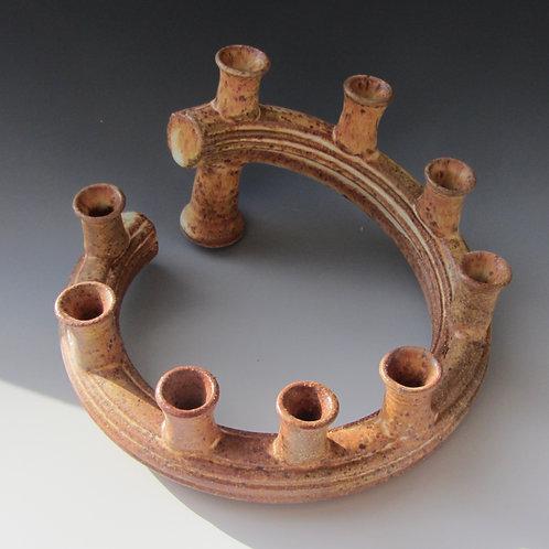 Stoneware Hanukkah Menorah