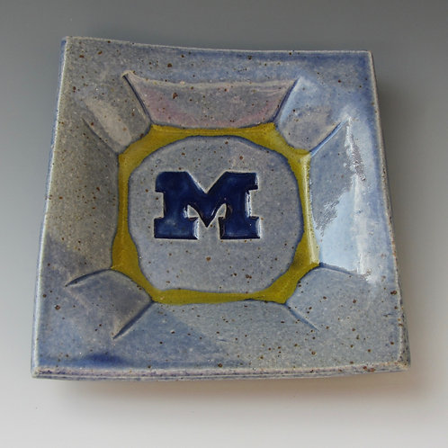 Stoneware Plate (University of Michigan)