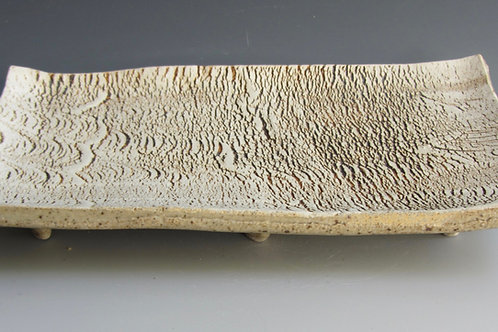 Stoneware Cracker Plate