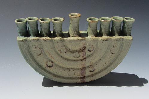 Stoneware Hannukah Menorah