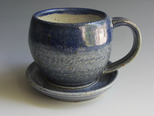 Stoneware Demitasse Cup and Saucer