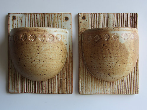 Stoneware Wall Planters (Pair)