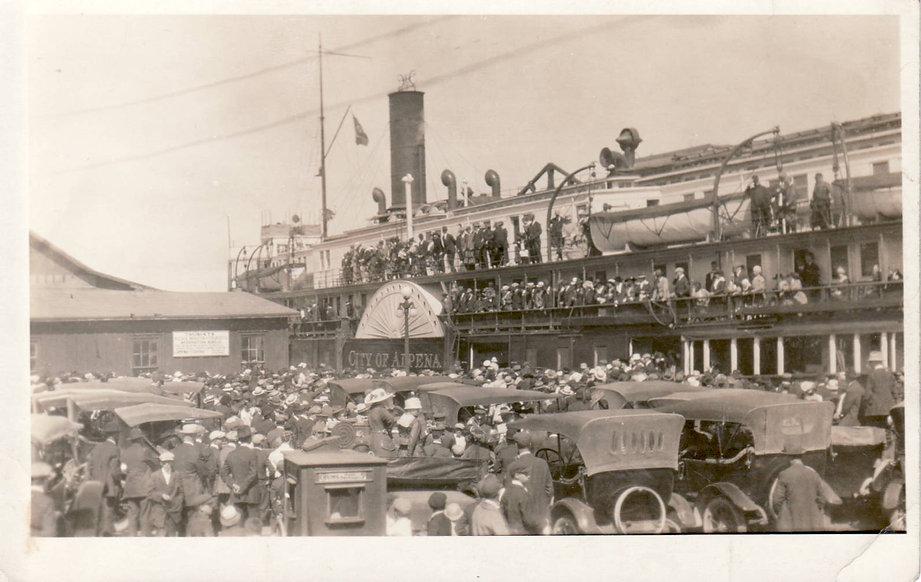 City of Alpena ship and crowd.JPG