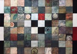 """Palimpsest of Squares 32x46"""""""