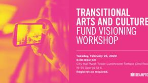 Transitional Arts & Culture Fund Visioning Workshop
