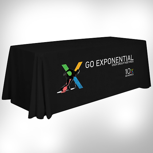 10x Go Exponential Printed Table Cover 8ft & 6ft