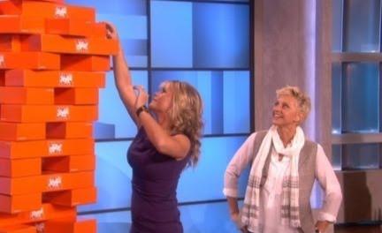 Ellen Gives the Jenga Push