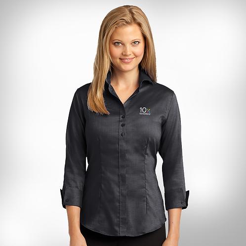 10x Ladies 3/4-Sleeve Non-Iron Shirt