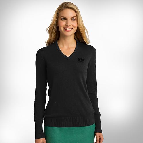 10x Ladies V-Neck Sweater
