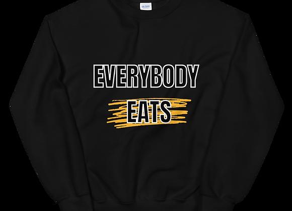 Everybody Eats - Unisex Sweatshirt (Yellow Line)