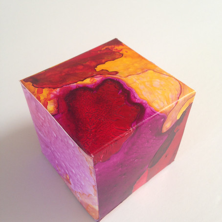 Hot Box acrylic ink on yupo 5.5 x 5.5 x 5.5 cm 2017