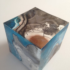 Earth Box acrylic ink, graphite on yupo 7 x 7 x 7 cm 2017