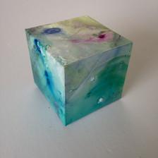Aqua Magic acrylic ink on yupo 5.5 x 5.5 x 5.5 cm 2017