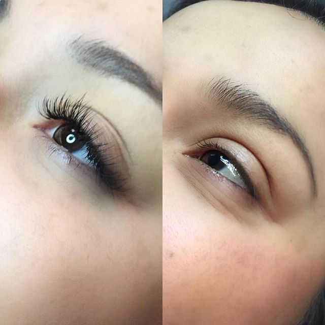 Before and after of _ceciliaalvarez_ work! She's super talented! Book an appointment with her today