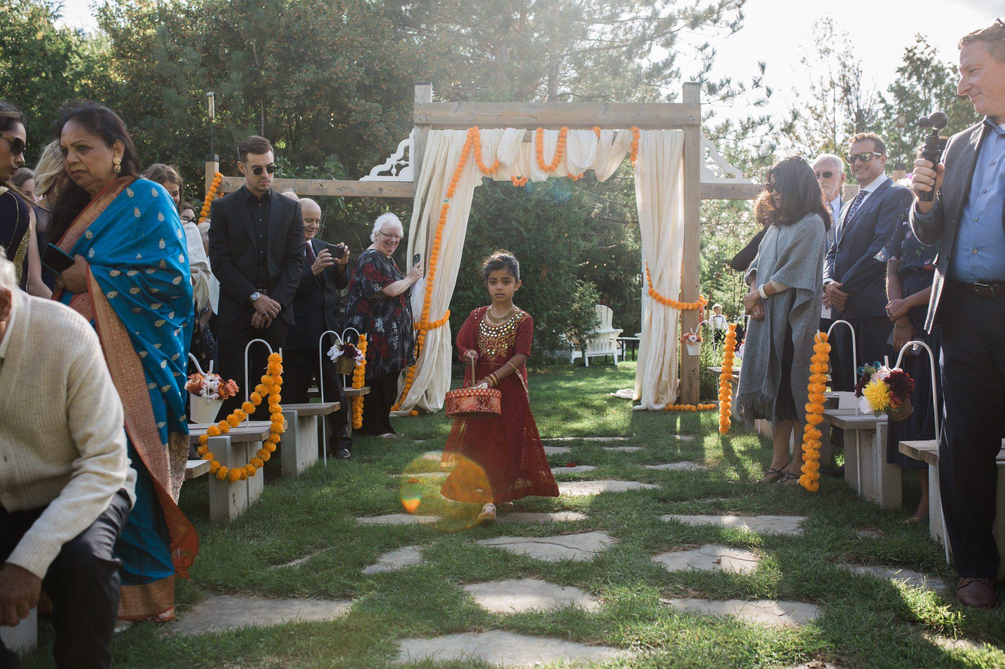 Northview Gardens Wedding - flower girl