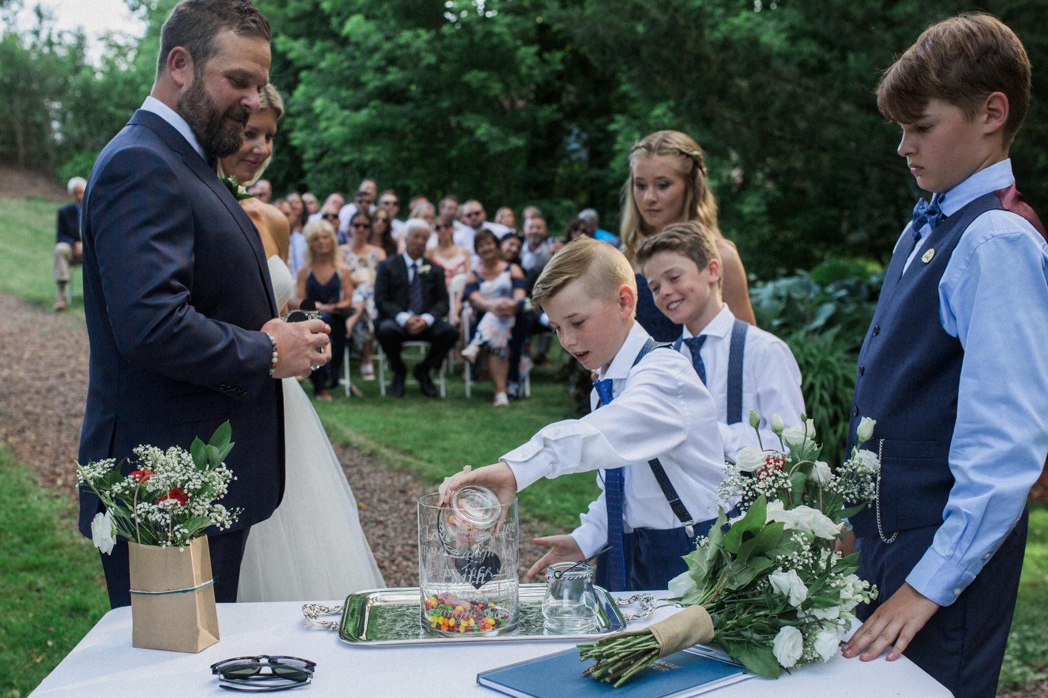 Harvest Restaurant Wedding Brooklin Ontario - Candy ceremony
