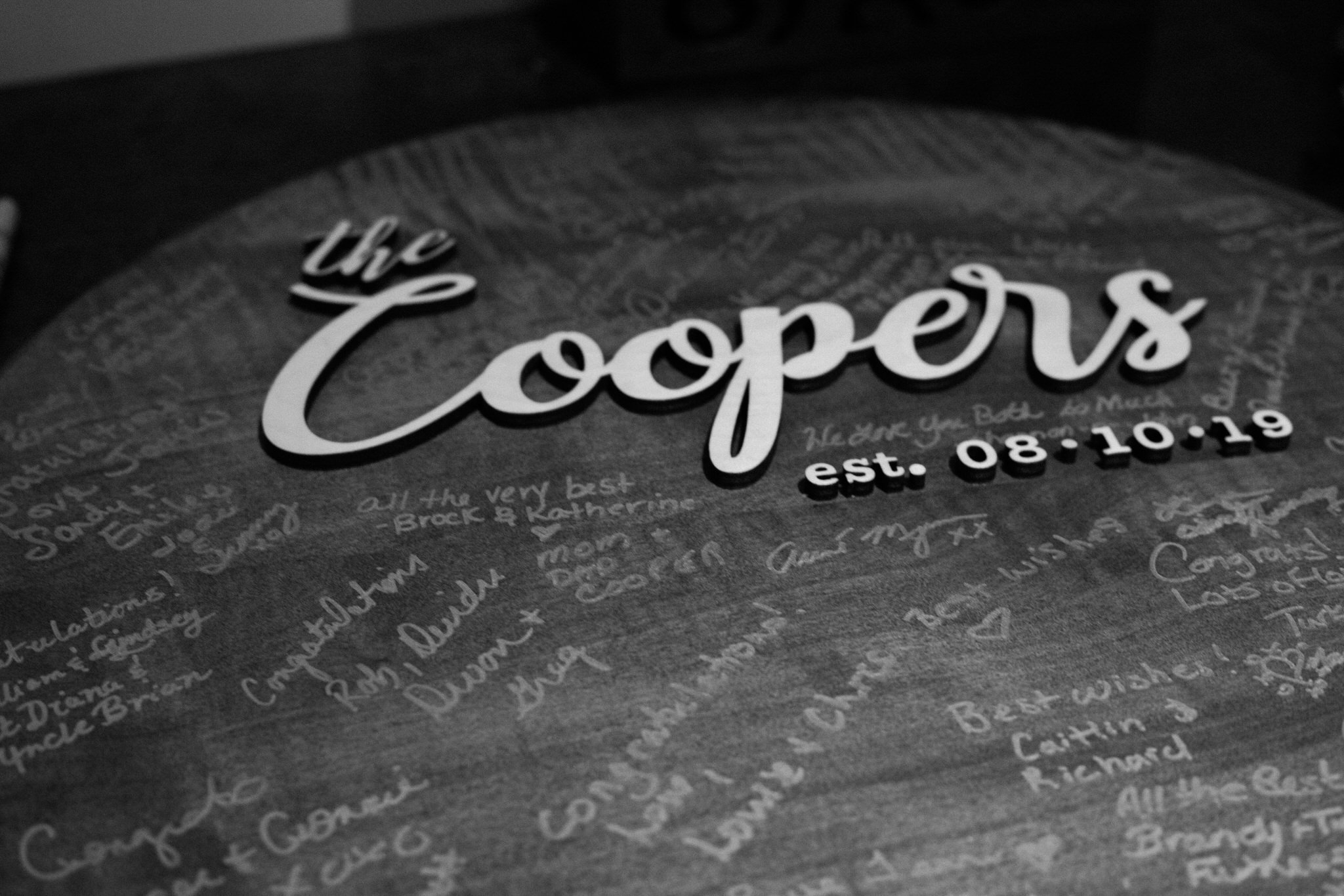 Brock Street Brewing Co. Wedding - reception details