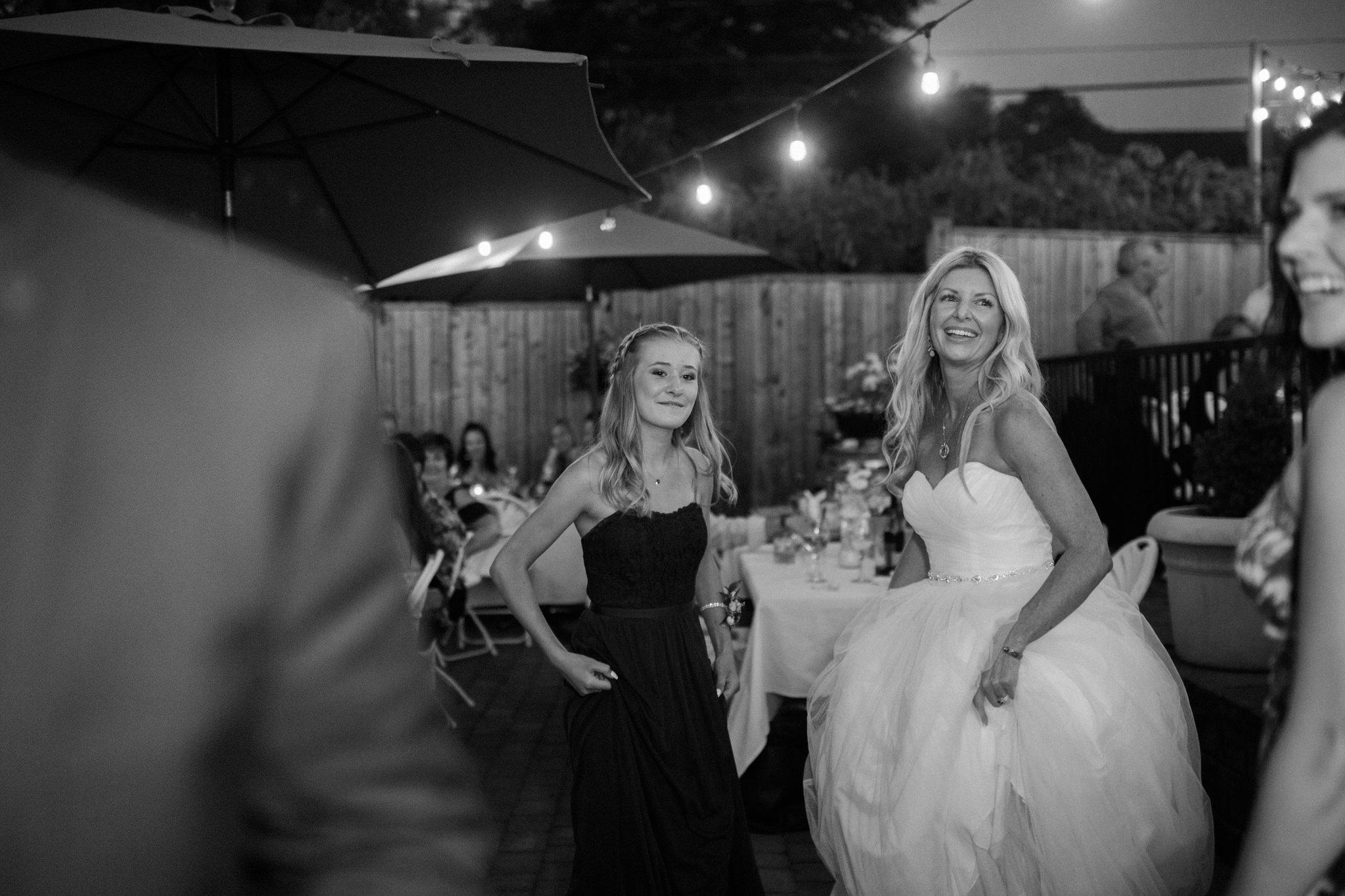 Harvest Restaurant Wedding Brooklin Ontario - Bride and daughter on the dance floor