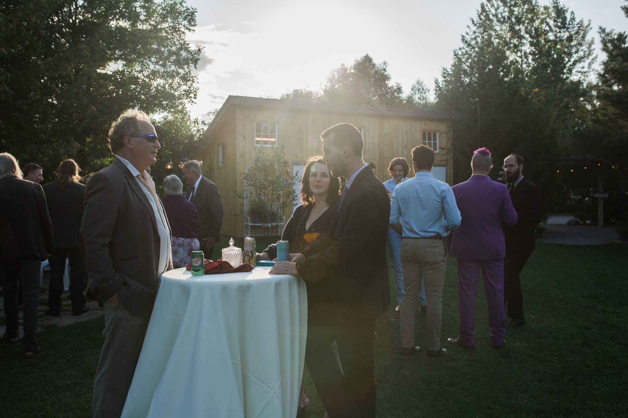 Northview Gardens Wedding - reception on the lawn