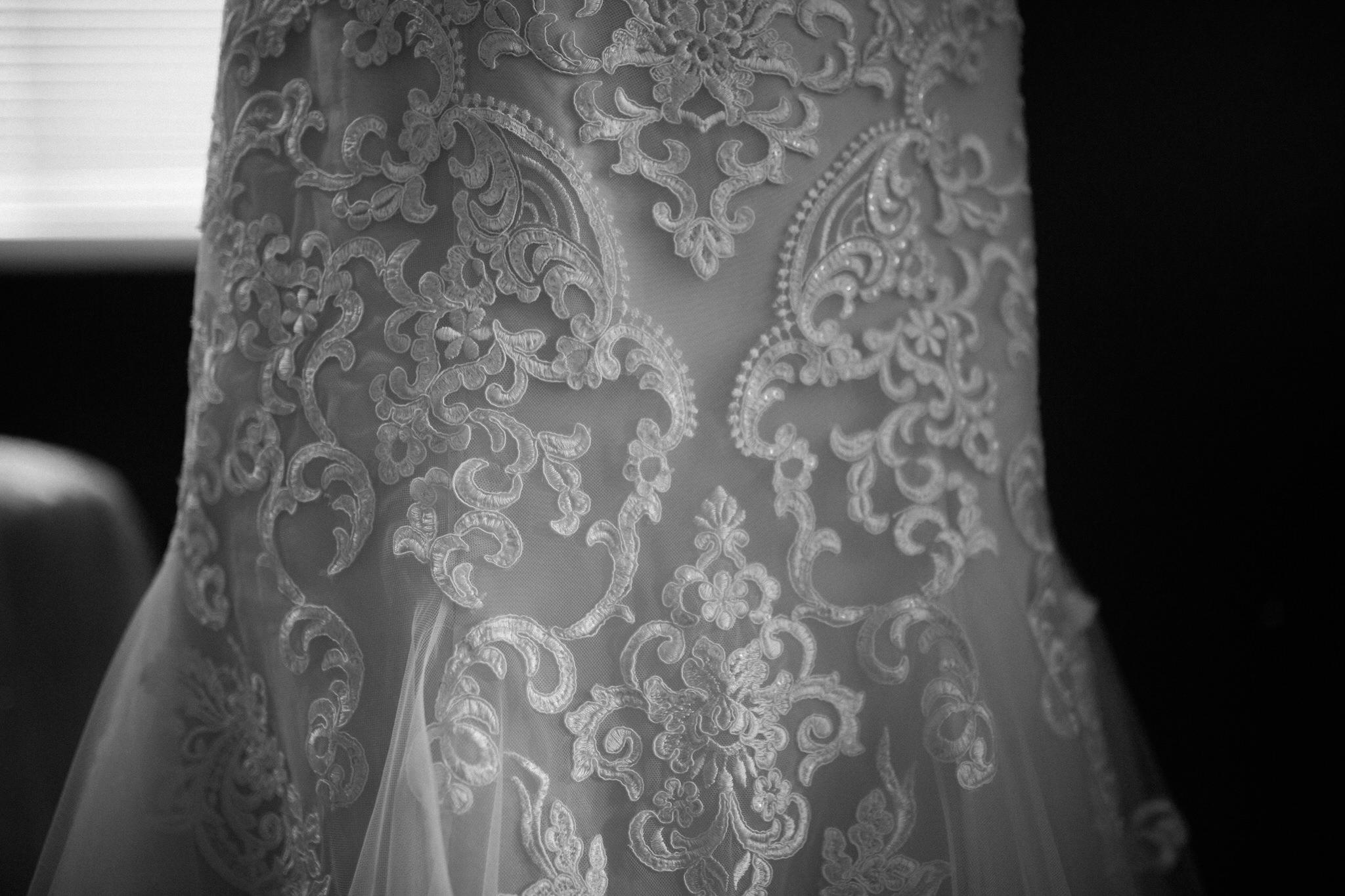 Brock Street Brewing Co. Wedding - dress details