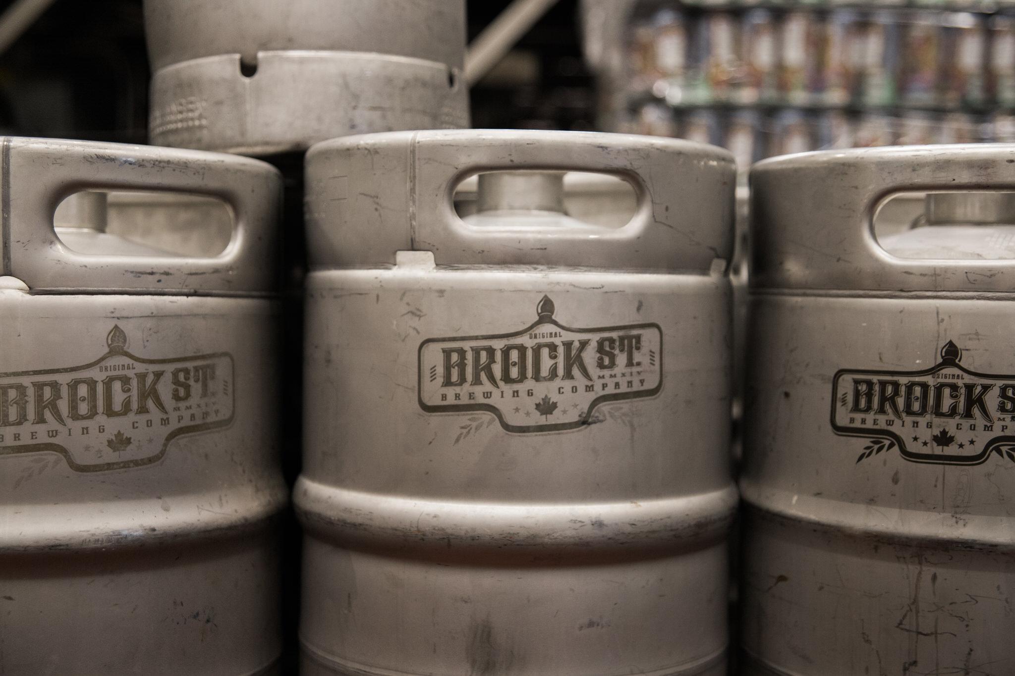 Brock Street Brewing Co. Wedding - kegs