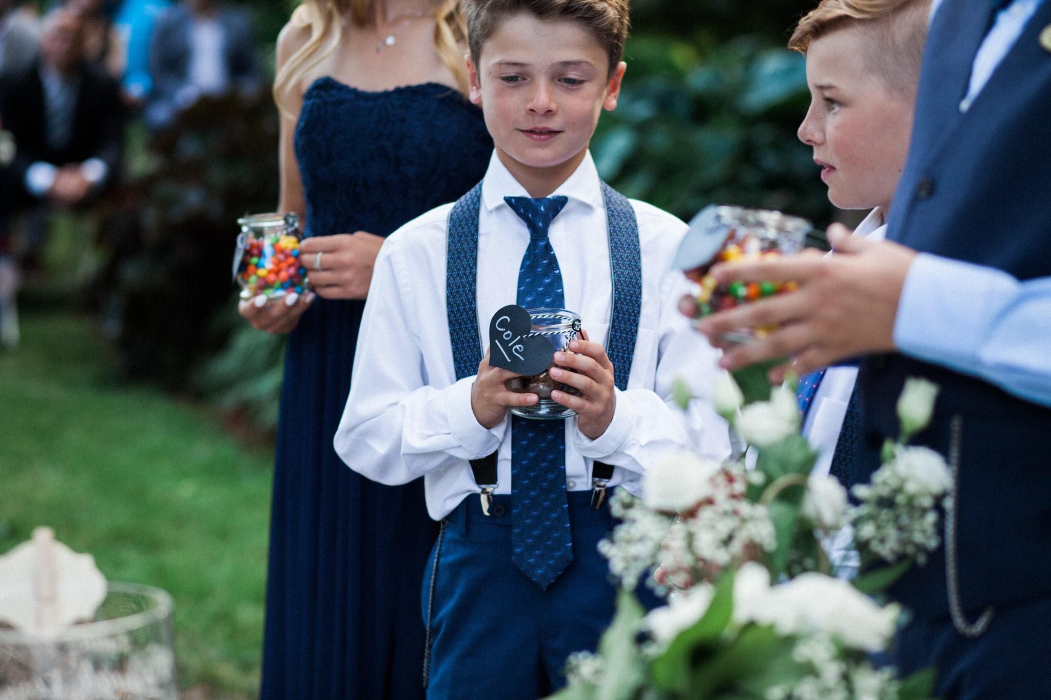 Harvest Restaurant Wedding Brooklin Ontario - Candy ceremony for children