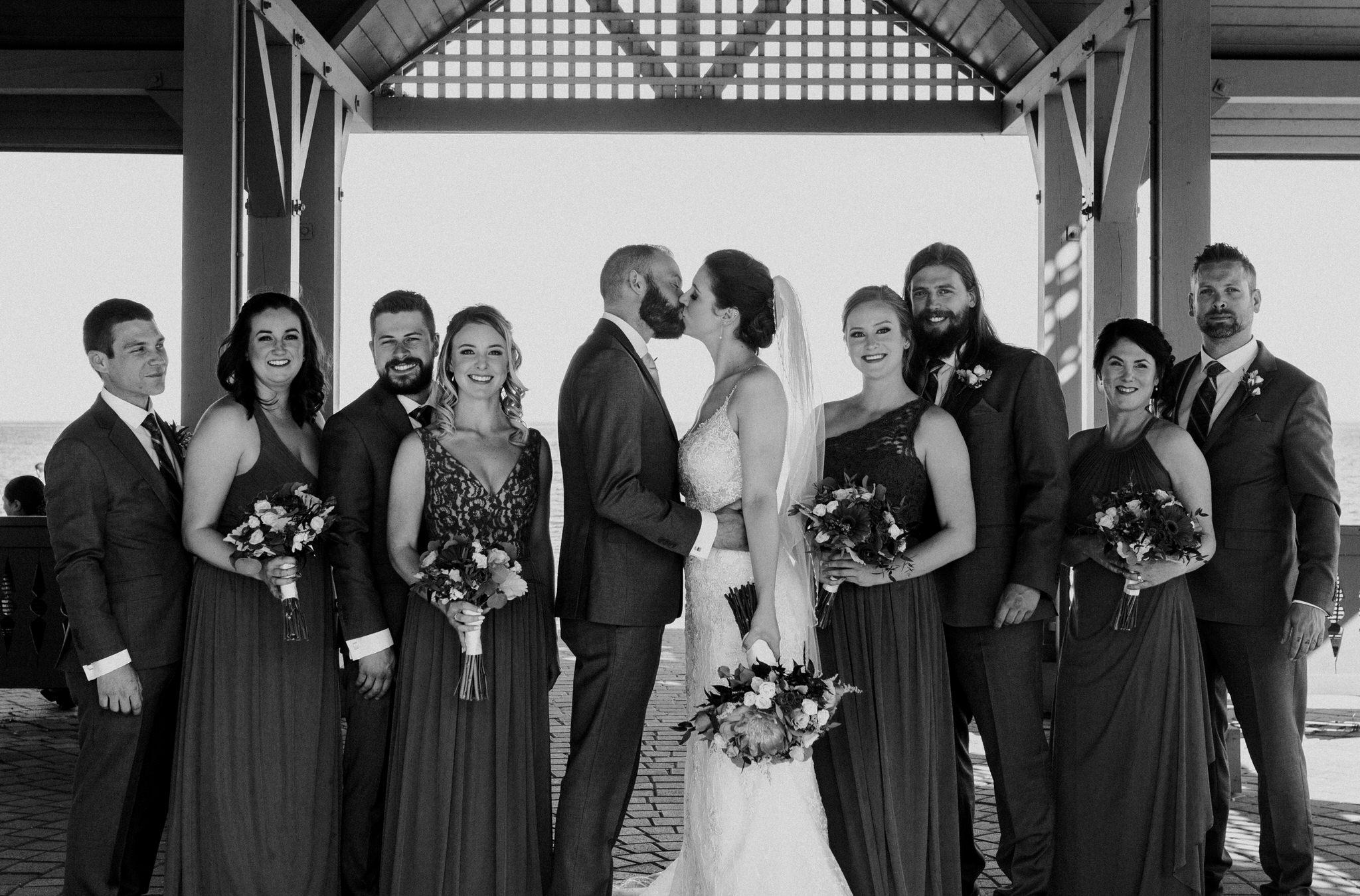 Brock Street Brewery Wedding - wedding party portrait