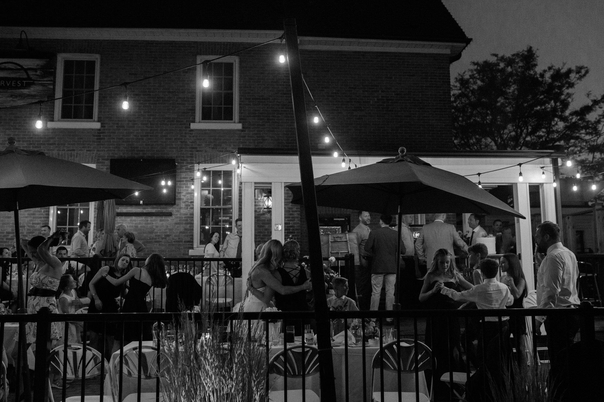 Harvest Restaurant Wedding Brooklin Ontario - Intimate family wedding on the patio