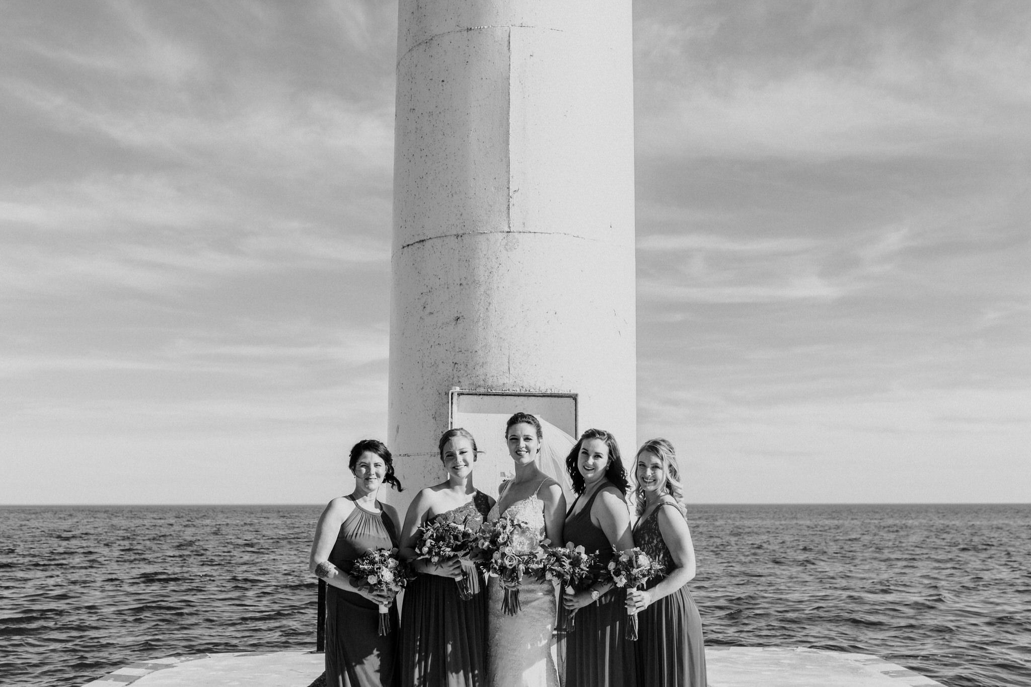 Brock Street Brewery Wedding - bridal party portrait