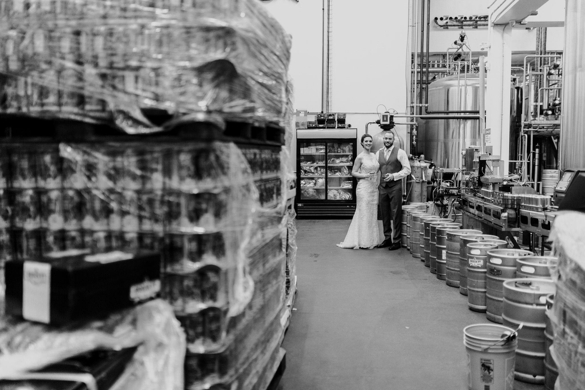Brock Street Brewery Wedding - portraits in the brewery