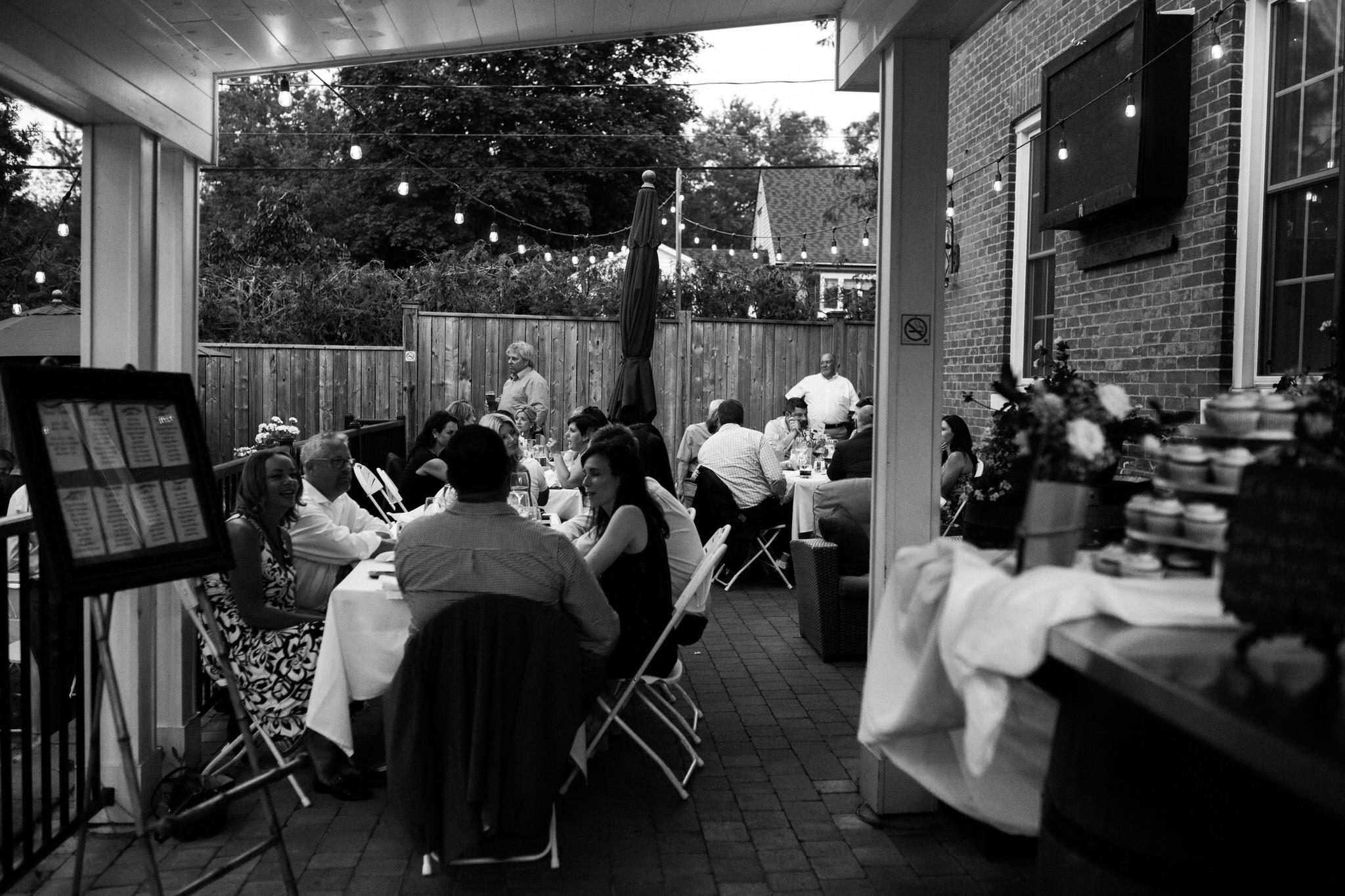 Harvest Restaurant Wedding Brooklin Ontario - Intimate wedding on the patio