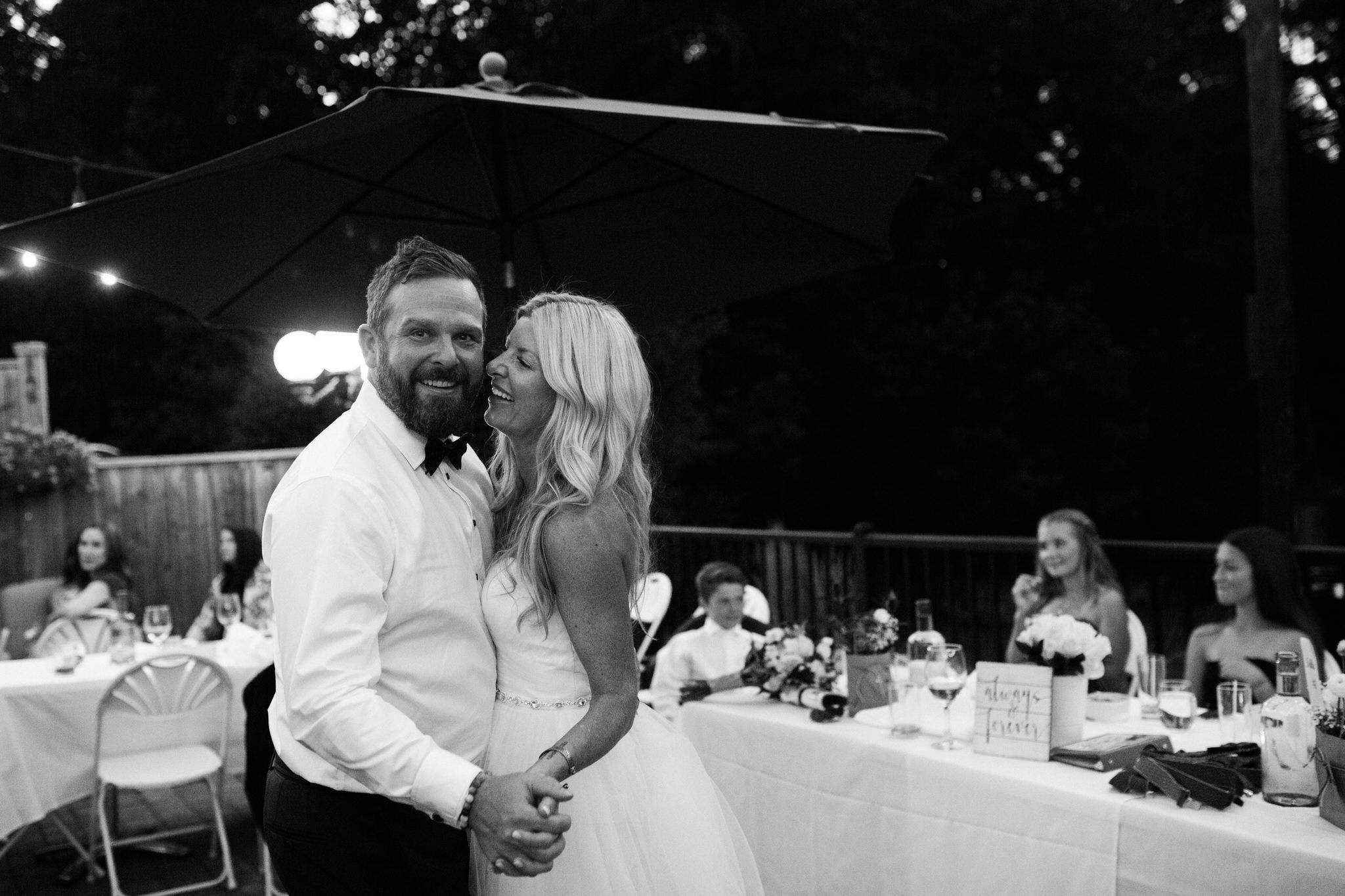 Harvest Restaurant Wedding Brooklin Ontario - Bride and groom's first dance