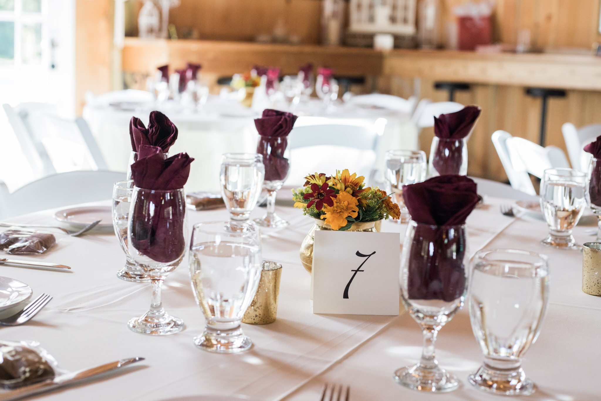Northview Gardens Wedding - reception decor