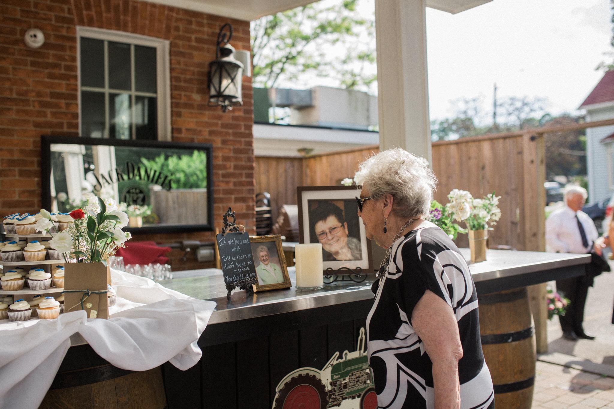 Harvest Restaurant Wedding Brooklin Ontario - Memorial area