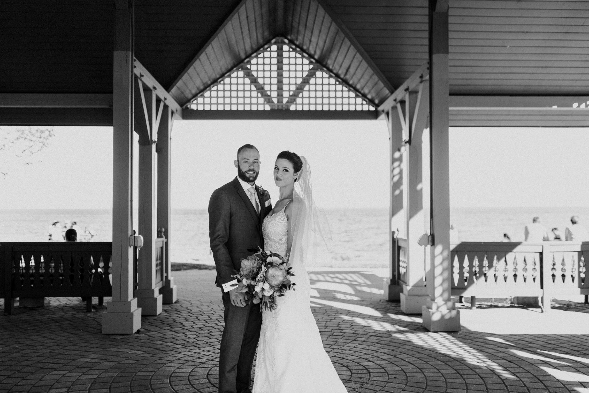 Brock Street Brewery Wedding - bride and groom portrait