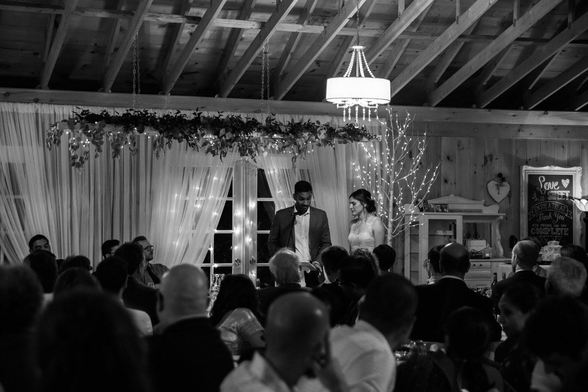 Northview Gardens Wedding - bride and groom speech