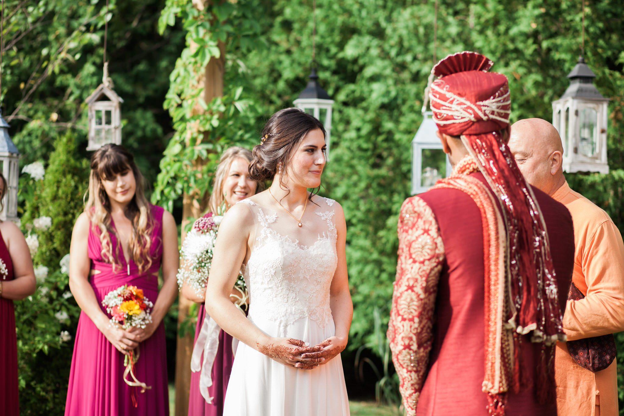 Northview Gardens Wedding - bride and groom - hindu wedding
