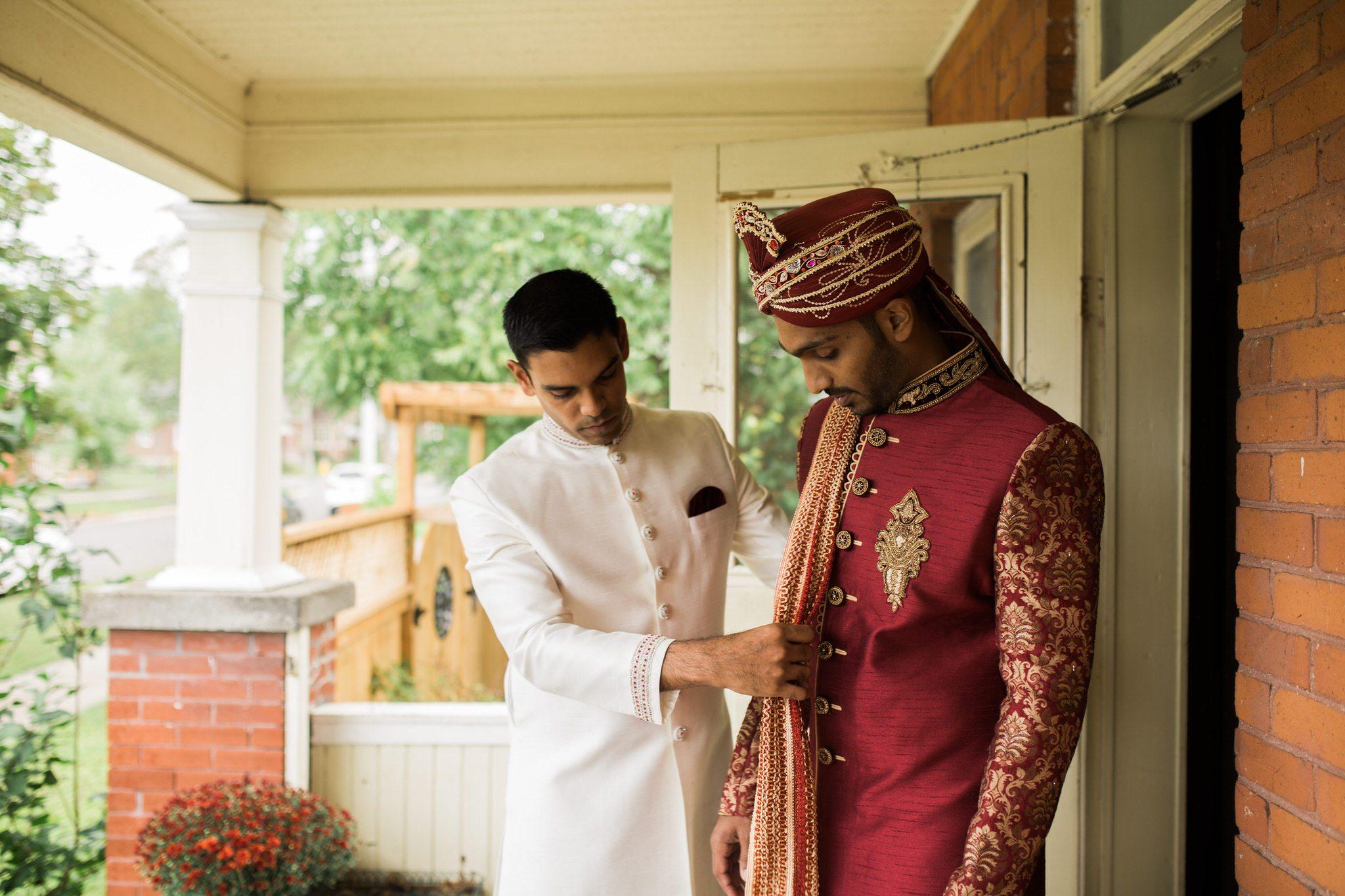 Northview Gardens Wedding - hindu groom getting ready