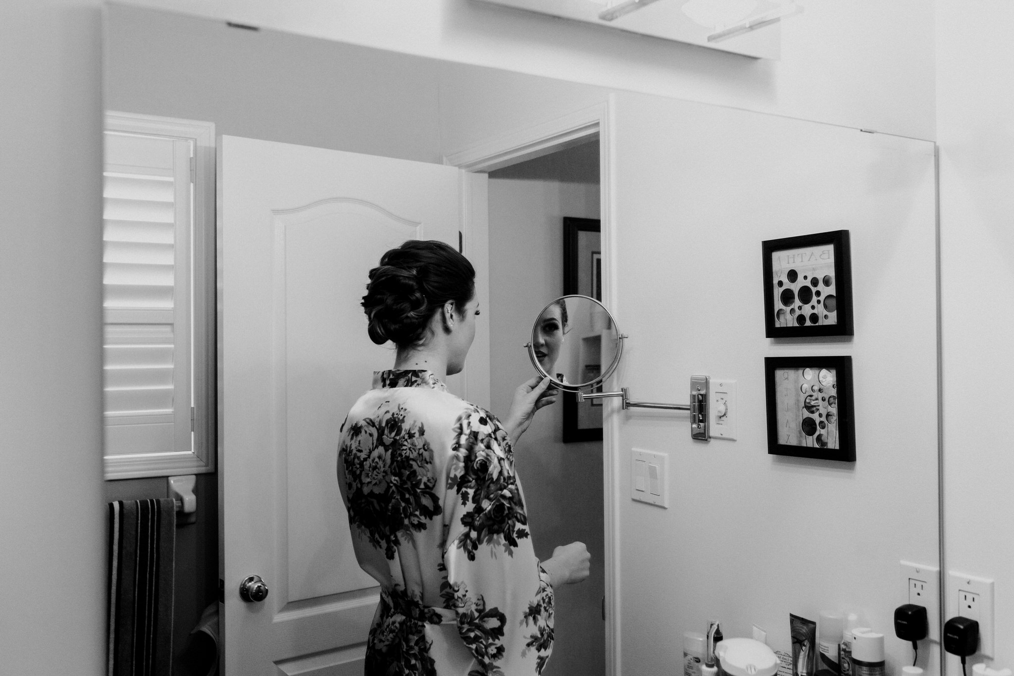Whitby Wedding Photographer Carol Poitras - bride reflection