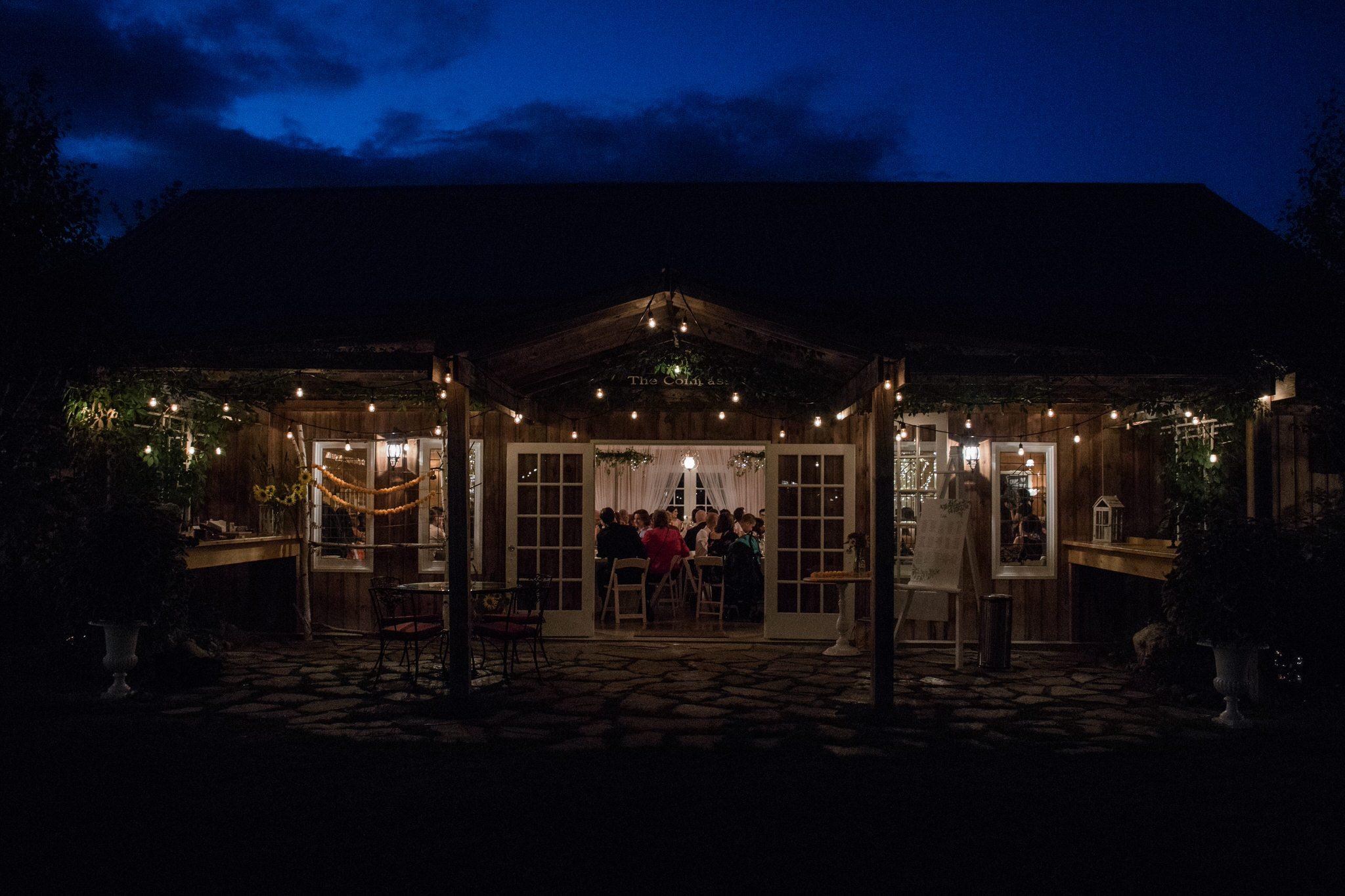 Northview Gardens Wedding - reception venue at night