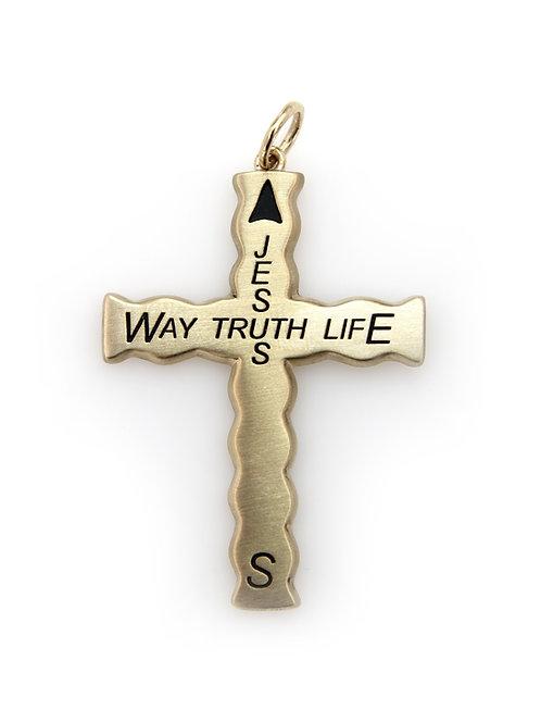 Gold Christian Compass Cross